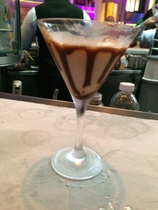 Chocolate Martini on Ice-Covered Bar